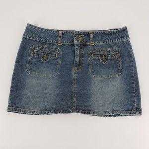 Roxy Jean - denim jean short skirt juniors size 11